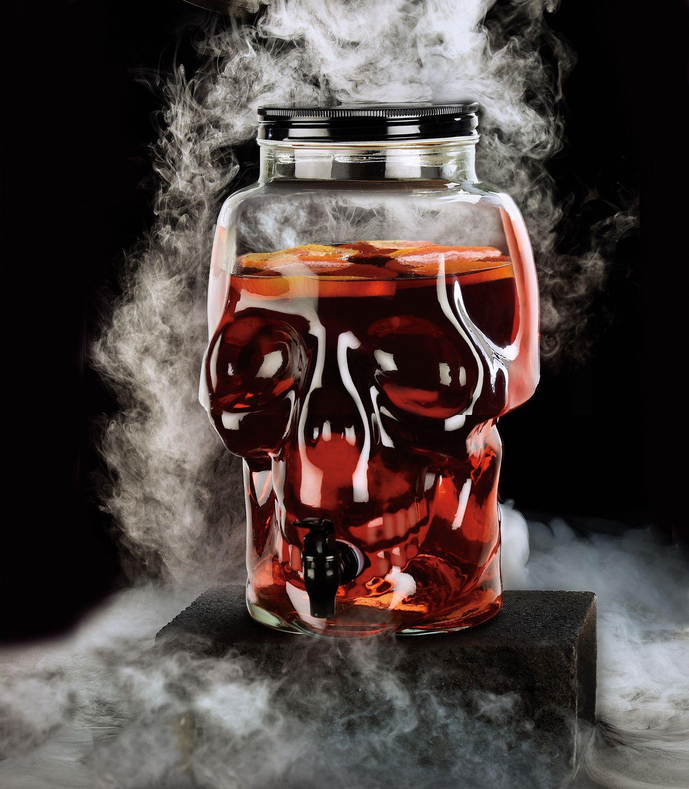 skull beverage dispenser #halloween #skull #skulls #diadelosmuertos