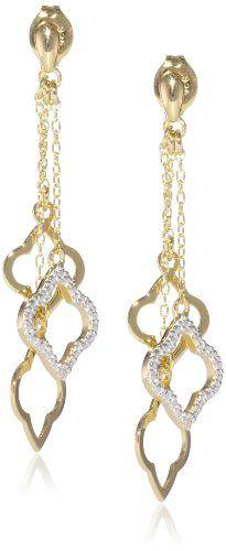 Sterling Silver Open Clover Shaped Multi Drop Earrings