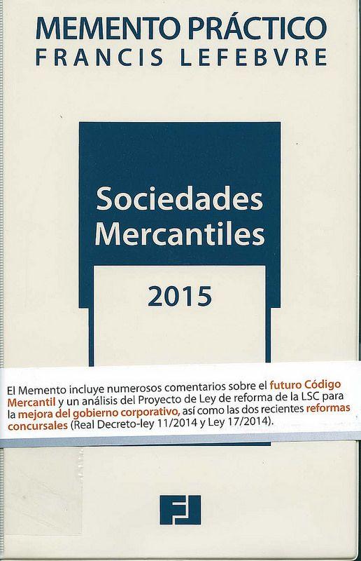 Sociedades mercantiles. 2015, 2014