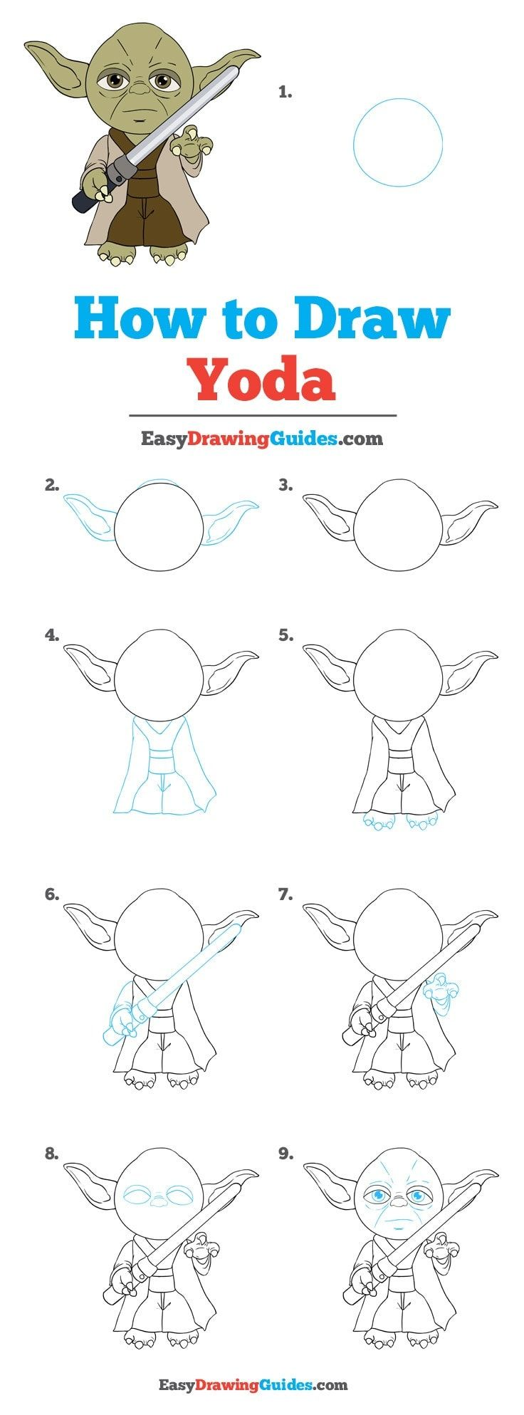 how to draw yoda from star wars really easy drawing tutorial