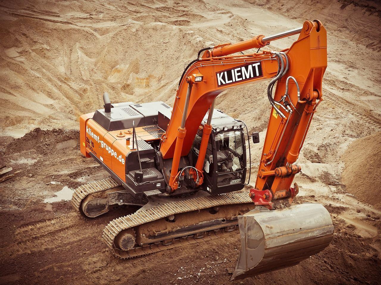 Free photo site build excavators construction