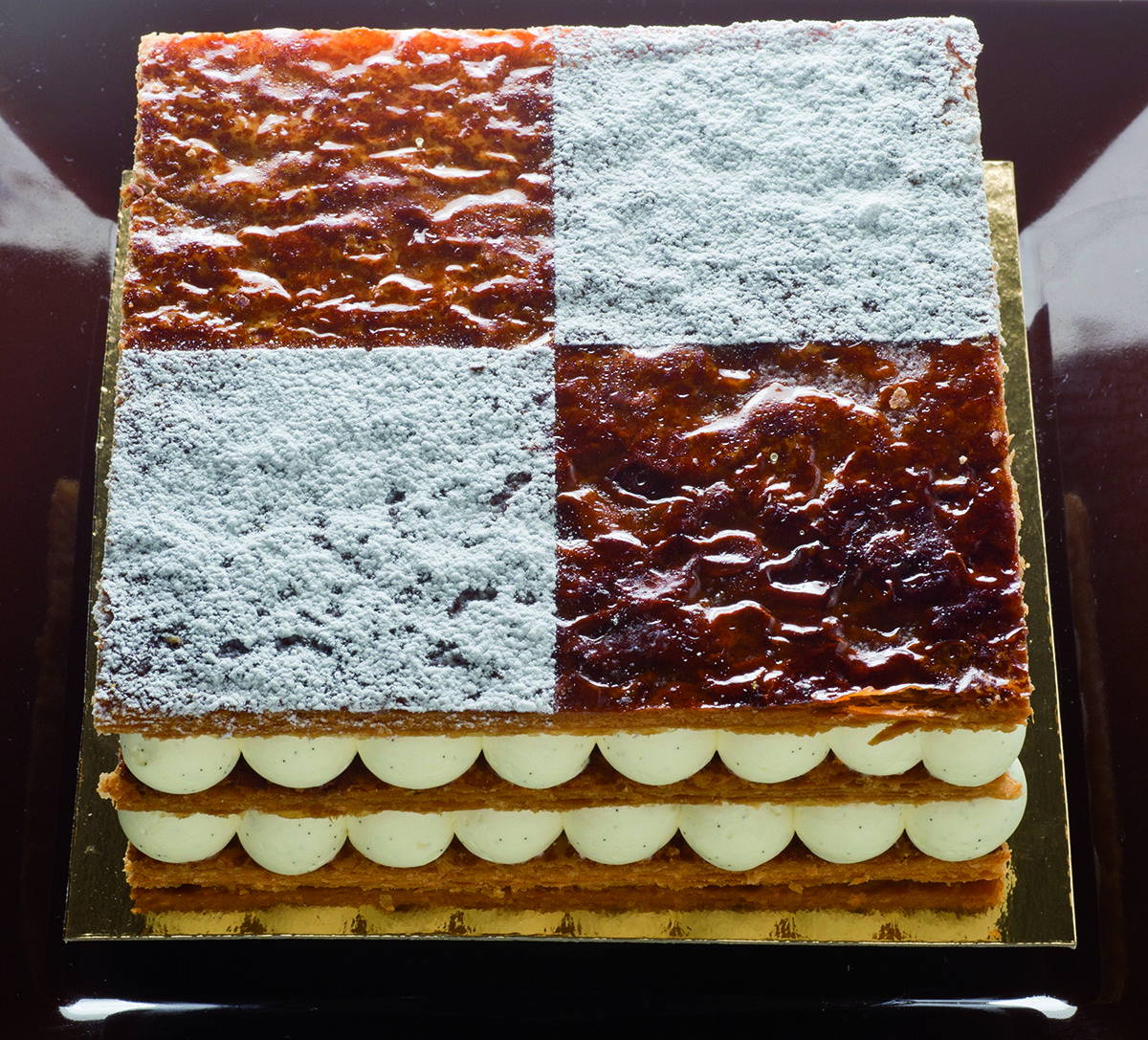 vanilla millefeuille a recipe from chef Pierre Gsgnaire