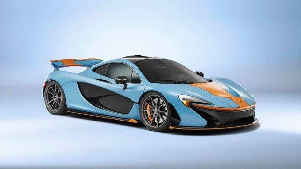 """Cars - McLaren P1 : livrée """"Gulf Oil"""" unique pour l'Hypercar ! - http://lesvoitures.fr/mclaren-p1-gulf-oil-mso/"""