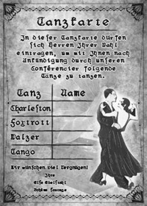 Tanzkarte arbeitsbl tter senioren karten silberhochzeit und karten basteln - Lustige fotos selber machen ...