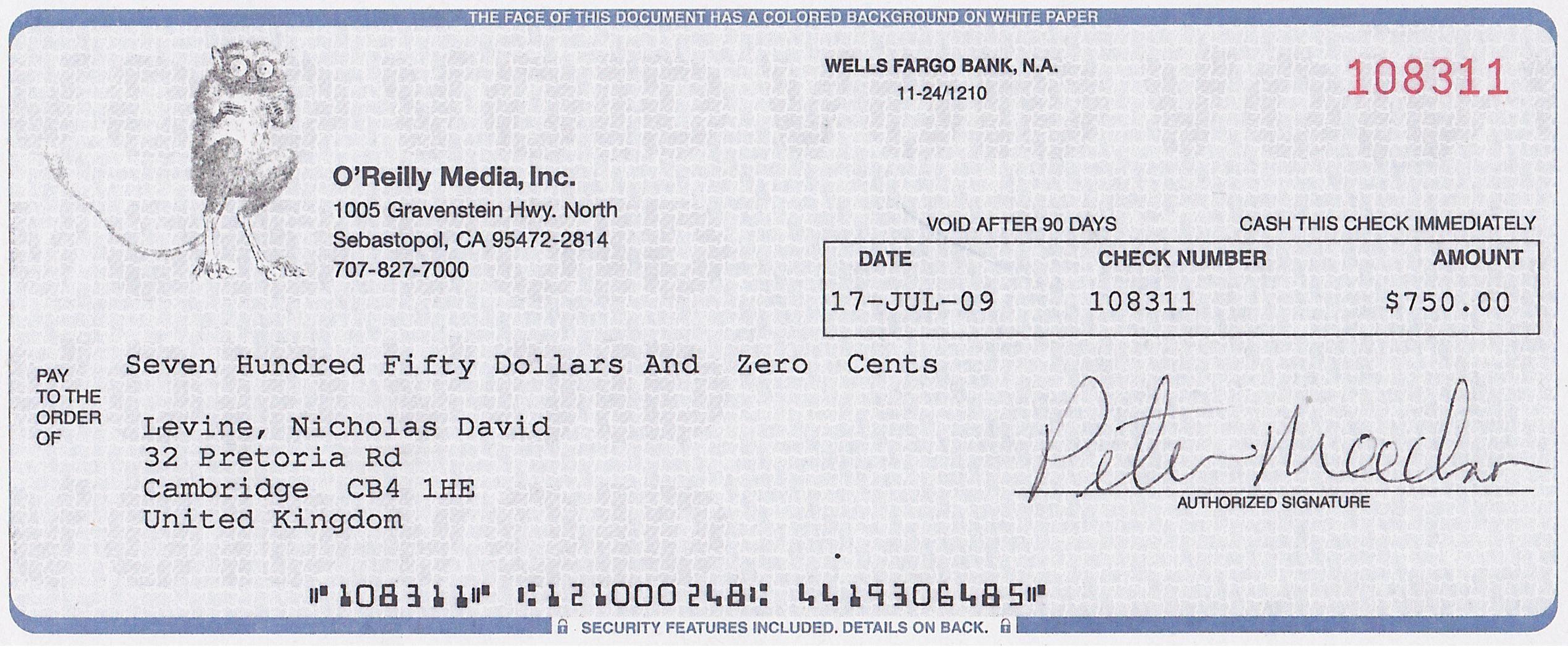 Cheque Books Google Search Wells Fargo Checkbook O Reilly Media