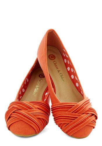 Cute shoes, Shoes, Orange ballet flats