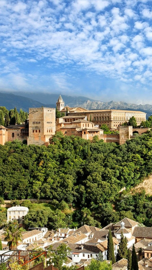 Alhambra Granada Spain Iphone 5 Wallpapers Backgrounds 640 X