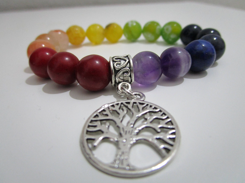 95e528fb34b1 Bracelet seven chakras