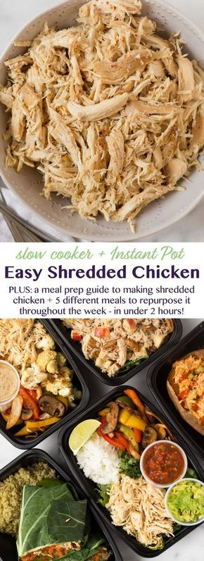 How to Make Easy Shredded Chicken 2 Ways