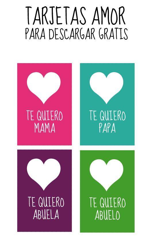 Imprimibles para San Valentín #enespañol   14/febrero   Pinterest ...