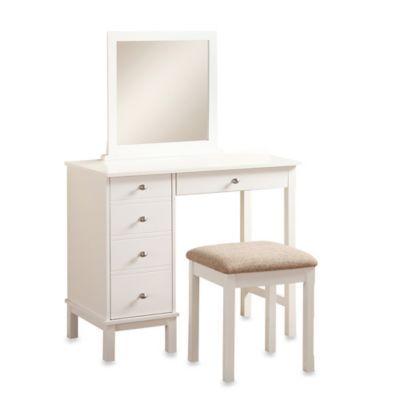 Buy Linon Home Julia Vanity Set in Walnut from Bed Bath & Beyond ...