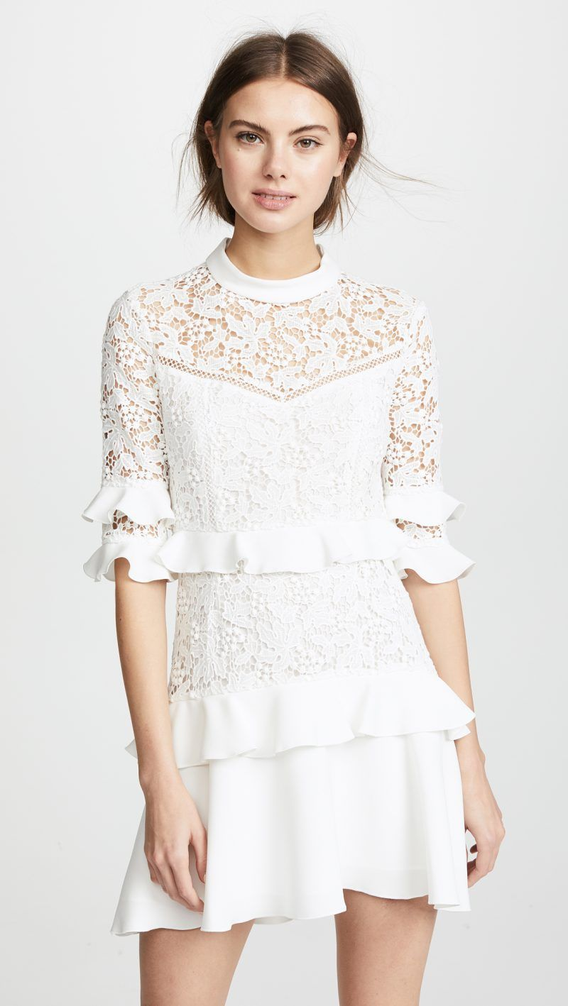 short wedding dresses that will show off those killer shoes in