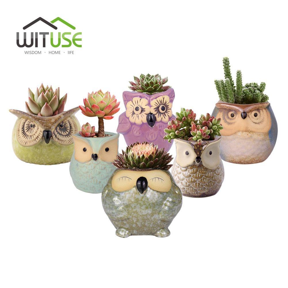 USA Resin Flower Pot Planter Holder Succulent Plants Pot Home Garden Desk Decor