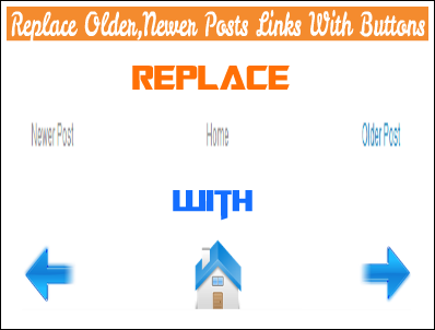 Replace Newer,Older Posts Links With Buttons In Blogger - My Tricks Yard
