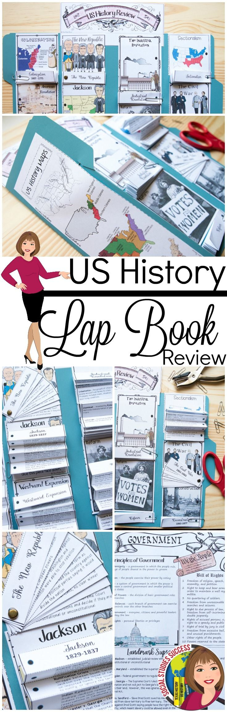 Create your own study guide with a US History Review Lap Book. No ...