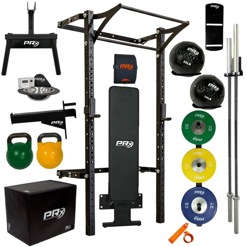His Hers Profile Pro Elite Package With Folding Bench At Home Gym Home Gym Folding Bench