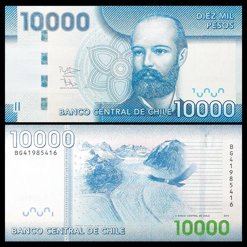 Chile 10000 10 000 Pesos 2014 P 164 Nuevo Uncirculated Ebay Billetes De Banco Historia De La Moneda Billetes Del Mundo