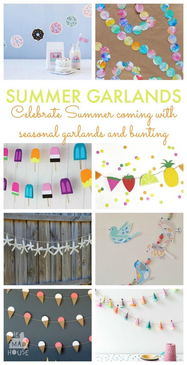 Simple Diy Garlands By Season Diy Garland Craft Activities For Kids Diy Party Decorations