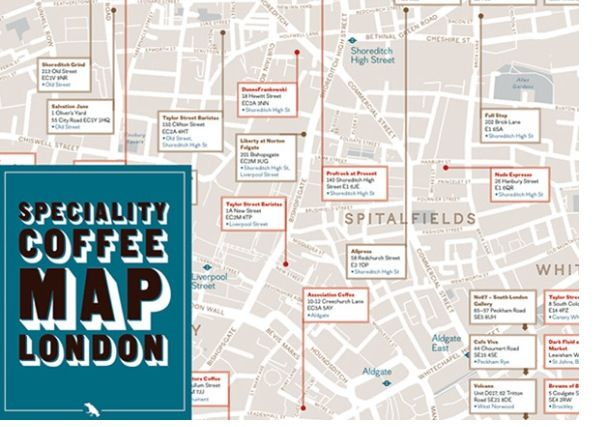 London coffee map