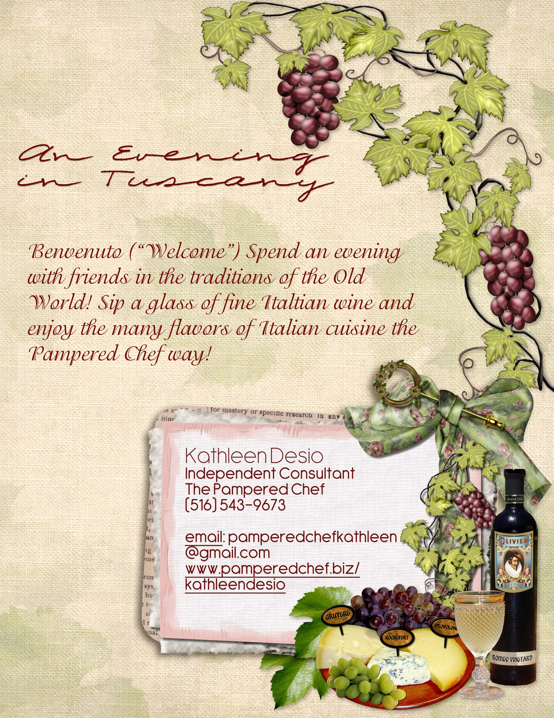 Gmail old theme -  Pamperedchef Evening In Tuscany Theme Party