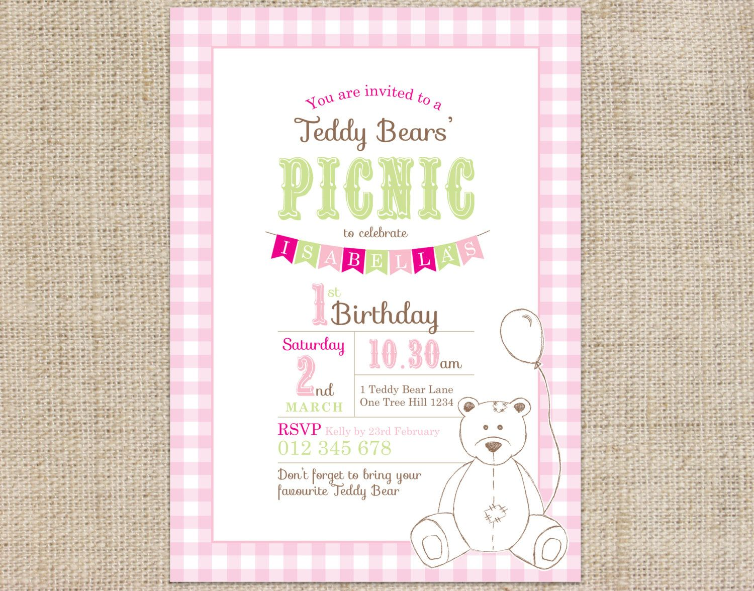 Printable Custom Birthday Party Invitation by CocoEllaDesigns ...