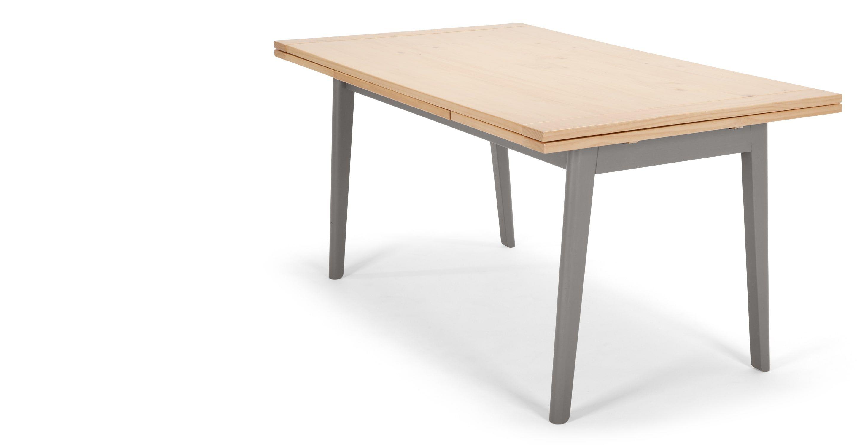 Grenenhouten Side Table.Kleur Uitschuifbare Eettafel Grenenhout En Grijs Home