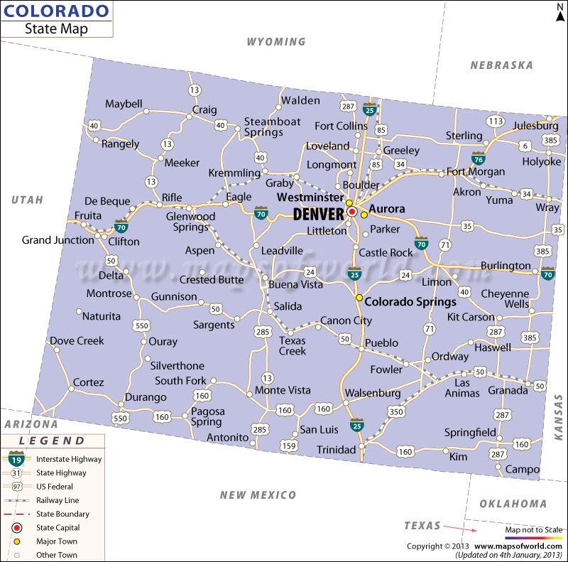 State Map of Colorado | maps | Boulder utah, State map, Colorado on pueblo colorado state map, salida colorado lodging, boulder colorado state map, breckenridge colorado state map,