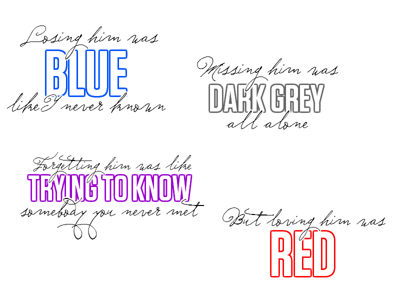 Red Eh Eh Eh Ehd Taylor We Get It Its Red Too Many Ehds I