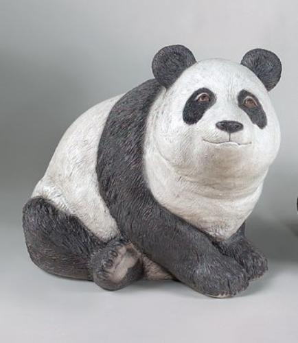 Panda Bear Garden Sculpture Cement Wildlife Exotic Flair