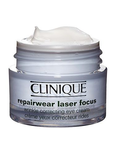 "Skin: Best eye cream - Clinique Repairwear Laser Focus Eye Cream, $43.50; macys.com An eye cream that's rich, sinks in fast, and has great age fighters? Boo-yah! ""It didn't pill or crease under concealer, which is rare for an eye cream this moisturizing,"" said Dubroff, who used it on her celeb clients."