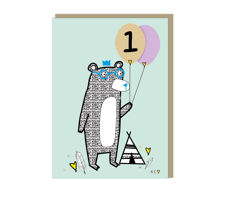 Bear Birthday Card Free Birthday Cards