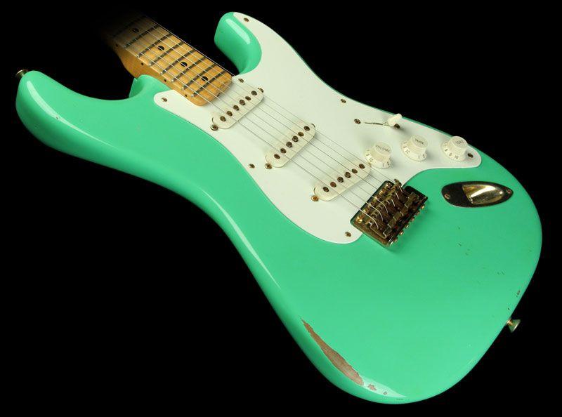 2009 fender custom shop 56 stratocaster in seafoam green guitars les paul stratocaster. Black Bedroom Furniture Sets. Home Design Ideas