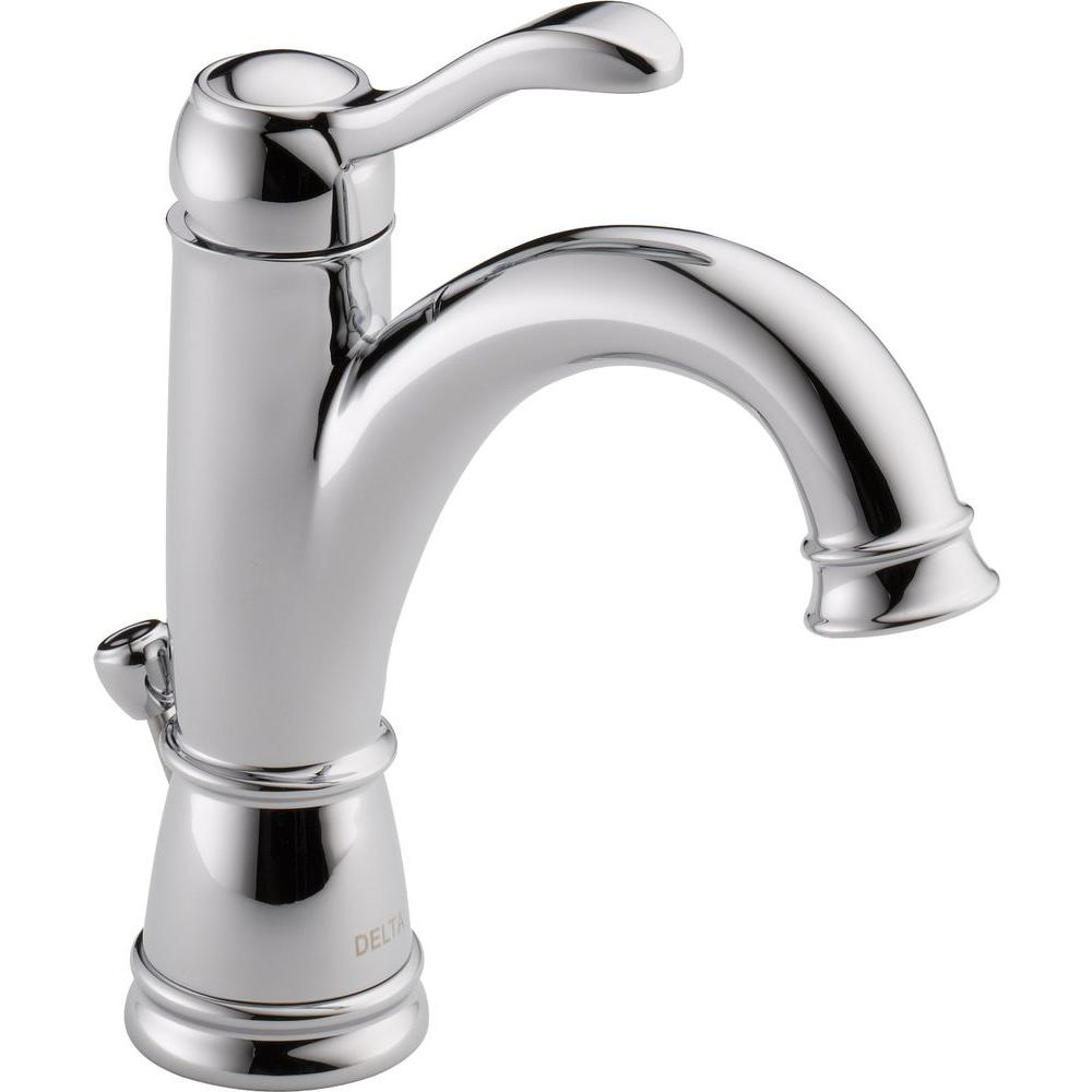 Delta Porter 4 In Centerset Single Handle Bathroom Faucet In Chrome 15984lf Eco The Home Depot In 2020 Bathroom Faucets Faucet Single Handle Bathroom Faucet