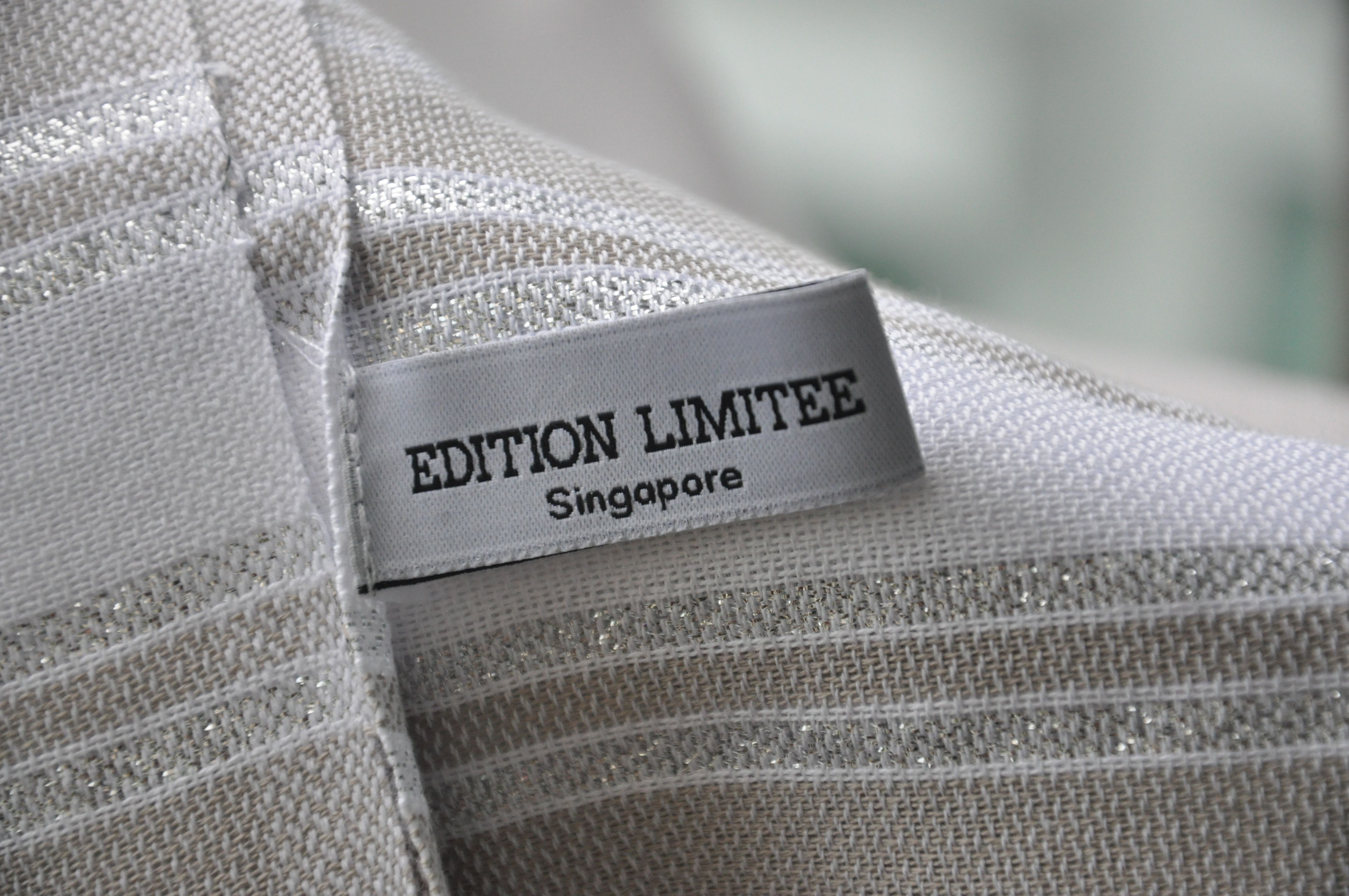 100% cotton with Lurex - white and silver - editionlimitee.com.sg