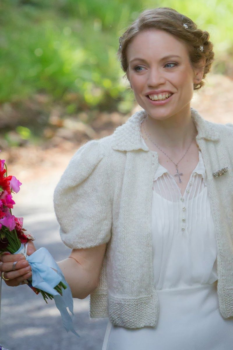Beauty worn as a wedding bolero. Lizzie looks truly radiant! http ...