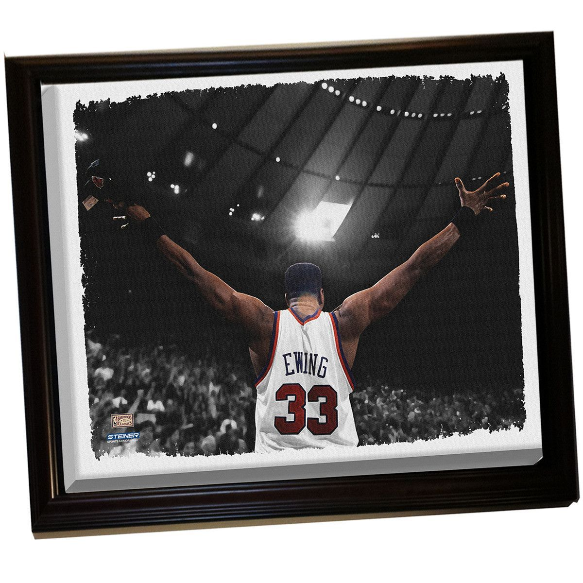 Patrick Ewing Arms Out Framed Stretched 32X40 Canvas Uns | Products ...