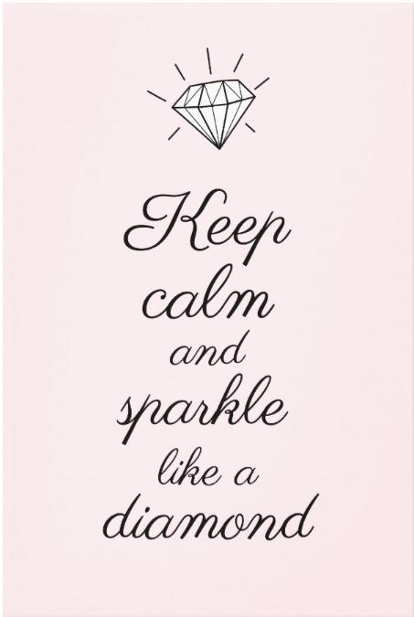 Keep Calm And Sparkle Like A Diamond Pink Princess Canvas Print Zazzle Com Calm Quotes Keep Calm Quotes Keep Calm Wallpaper
