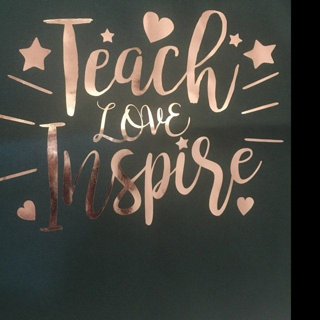 Download I absolutely love the Rose Gold Foil used with my Teach ...