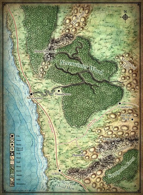 Players Sword Coast Map | Lost Mines of Thunder Vale | Pinterest