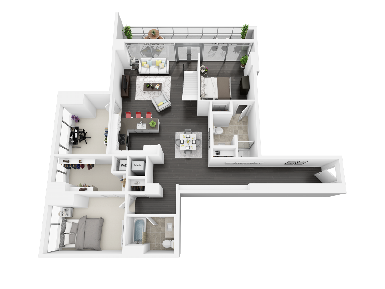 1 2 3 Bedroom Downtown Los Angeles Ca Apartments Floor Plans House Floor Plans Los Angeles Apartments