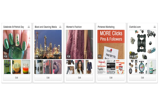 Setup and manage pinterest boards pins and repins