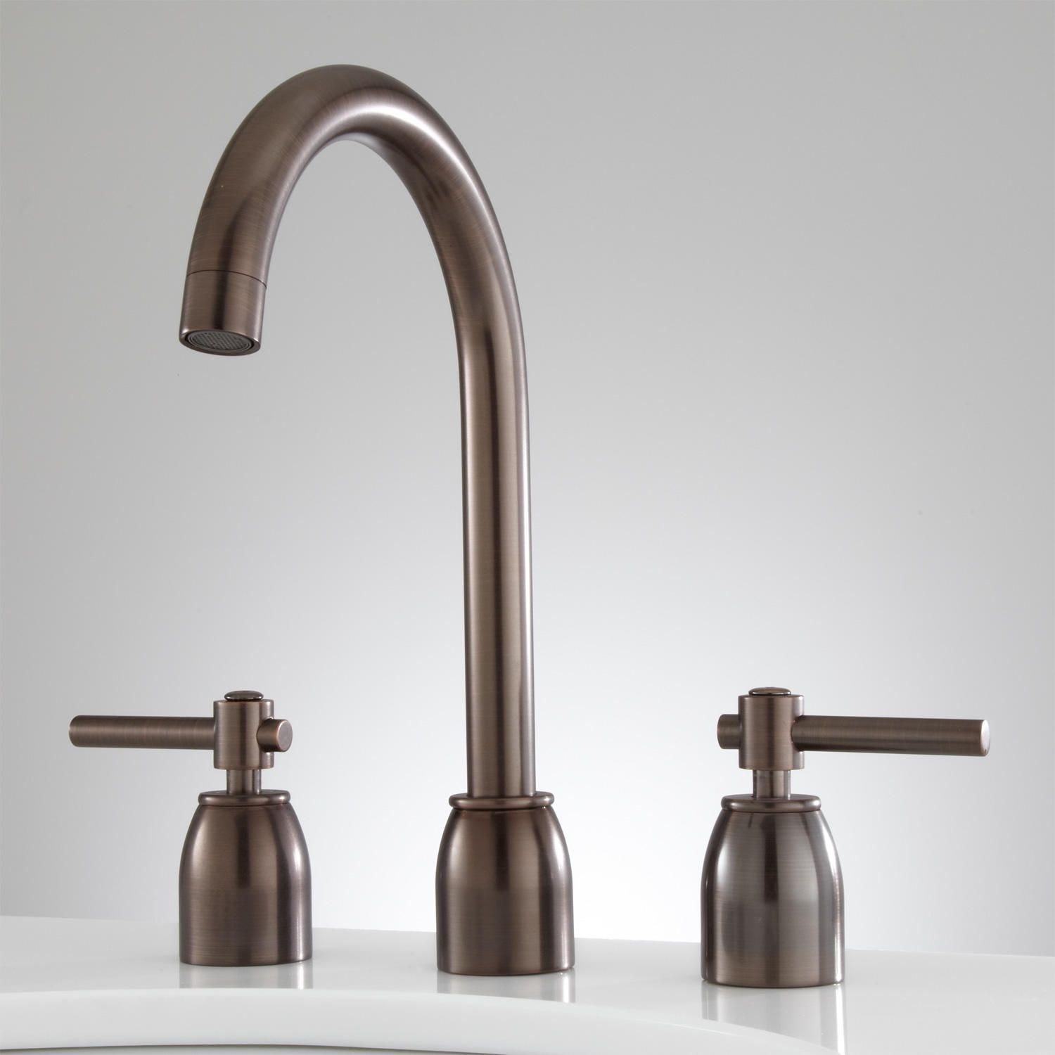 Cortland Widespread Bathroom Faucet No Overflow Oil Rubbed