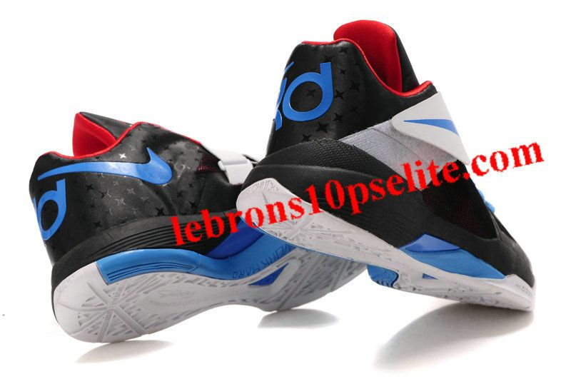 20a55b3b1b6c Kevin Durant Shoes - Nike Zoom KD 4(IV) Black Blue Red