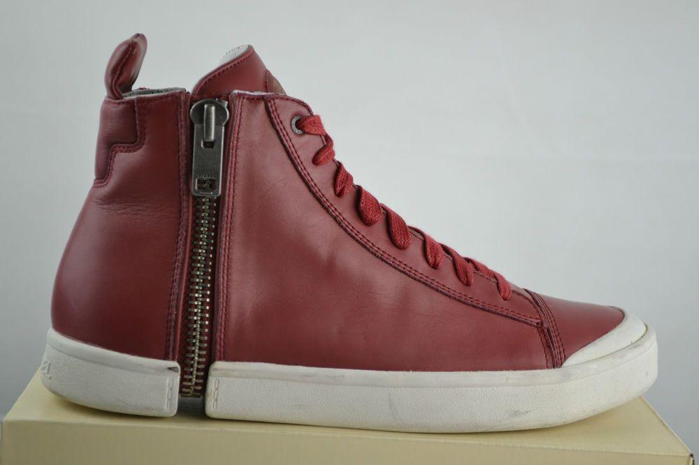 the best attitude deb2f 80679 Diesel S Nentish Rot Leder Sneaker Turnschuhe Shoe schuhe ...