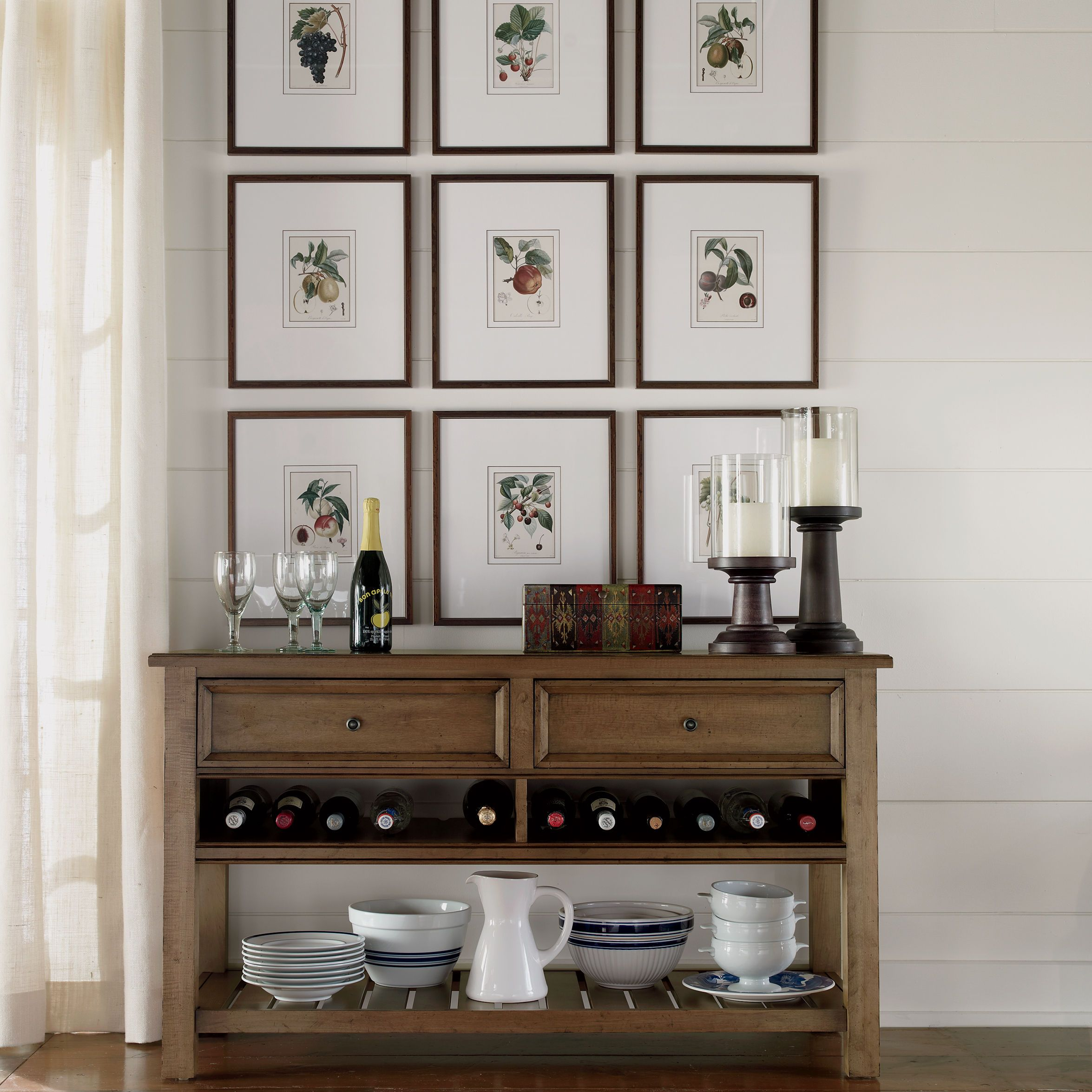 With A Nod To The American Artisan Tradition, The William Server Features A  Center Shelf