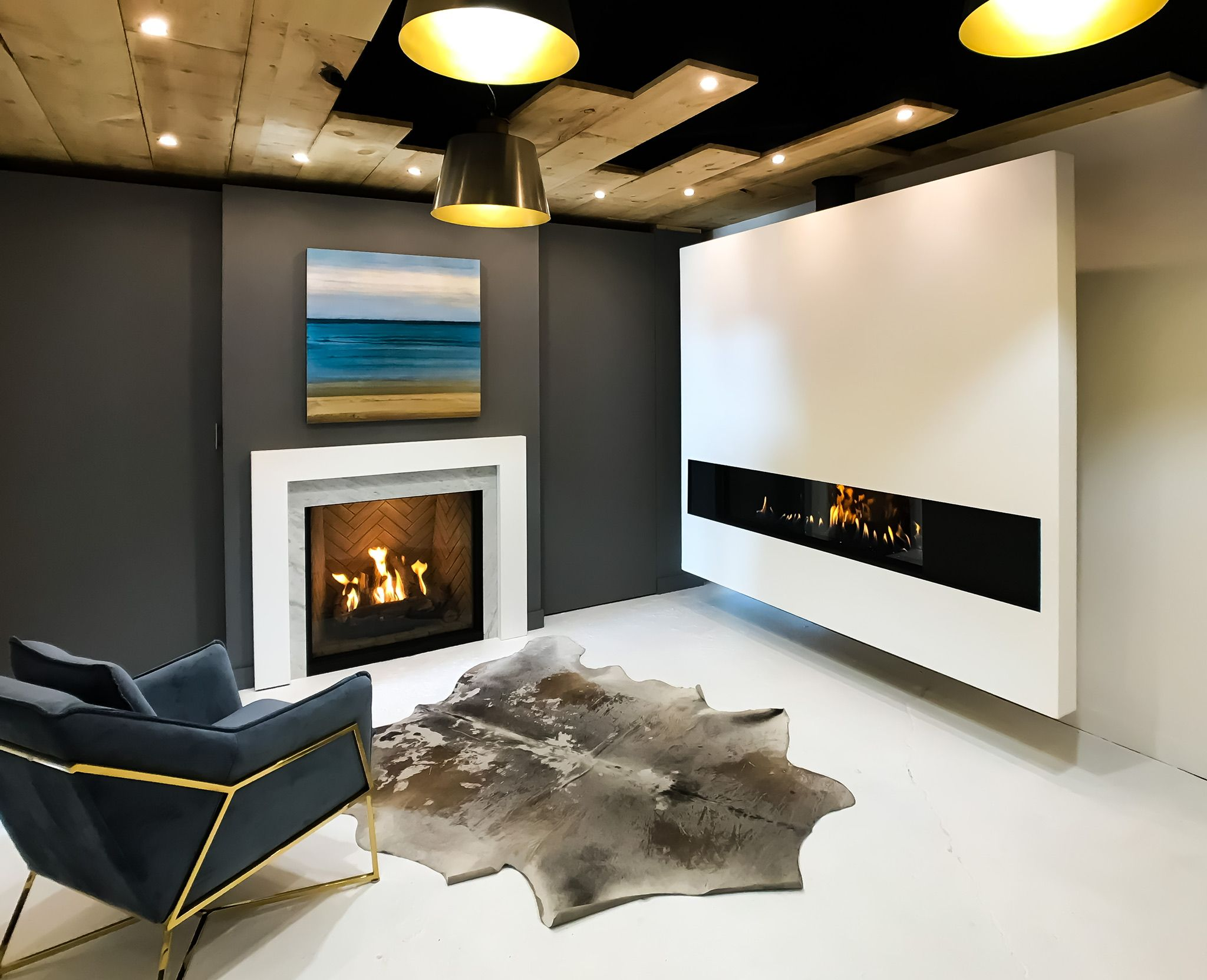 new ortal fireplaces studio at nero fire design store toronto