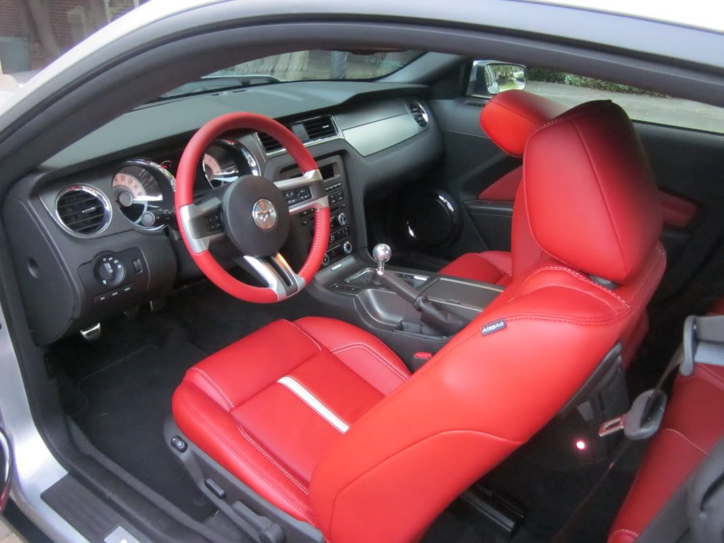 Brick Red Interior Red Interiors Ford Mustang Ford