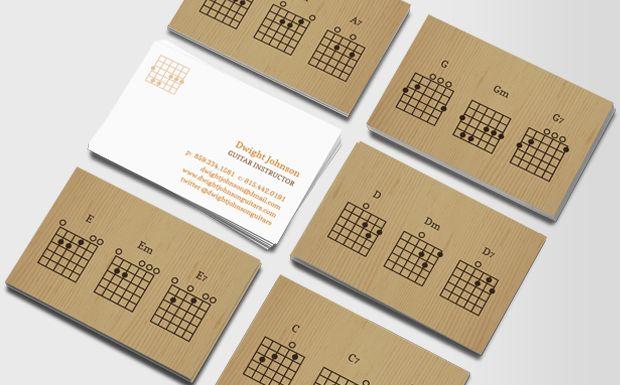 Guitar Chords Business Cards Guitar Chords Business Card Design Business Cards