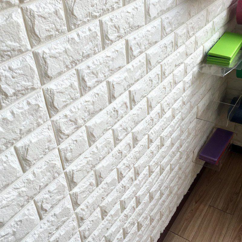 3d Self Adhesive Faux Foam Bricks Wallpaper Wall Stickers