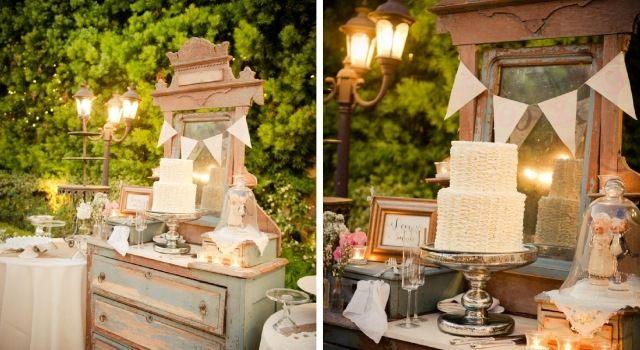 Vintage Hochzeit Garten Alter Schrank Deko Torte Mr Mrswedding